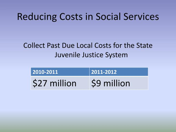 Reducing Costs in Social Services