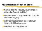 quantitation of fat in stool