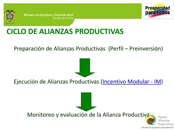 CICLO DE ALIANZAS PRODUCTIVAS