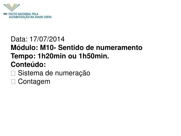 Data: 17/07/2014