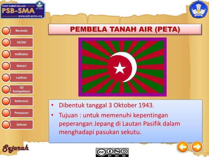 PEMBELA TANAH AIR (PETA)