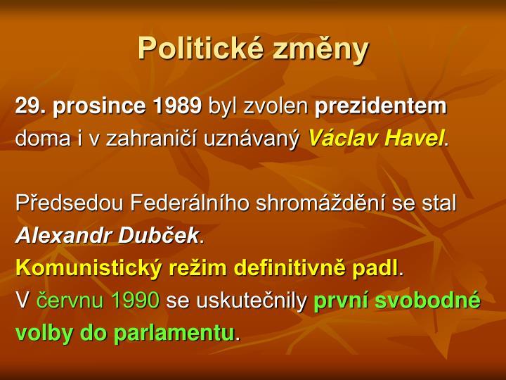 Politické změny