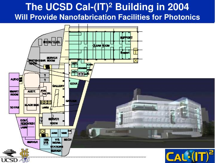 The ucsd cal it 2 building in 2004 will provide nanofabrication facilities for photonics