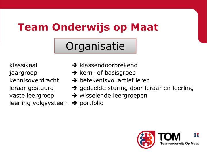 Team Onderwijs op Maat