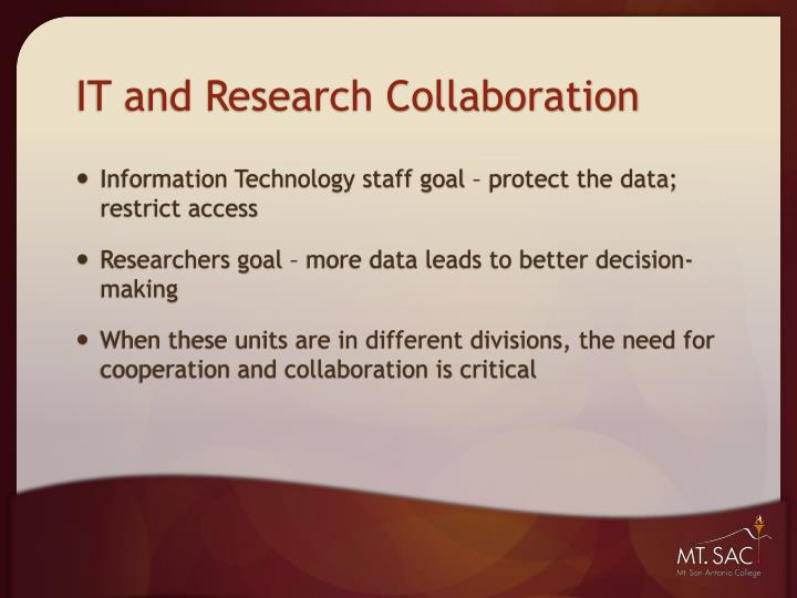 It and research collaboration