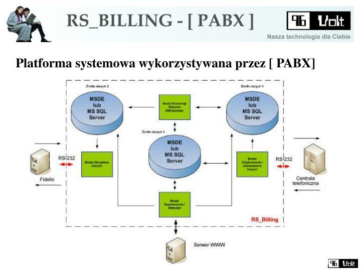 Platforma systemowa wykorzystywana przez [ PABX]