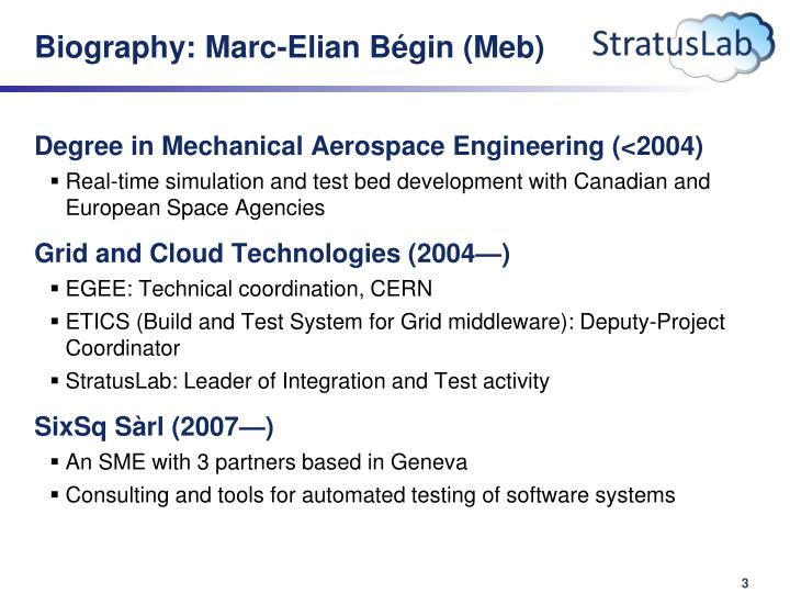 Biography marc elian b gin meb