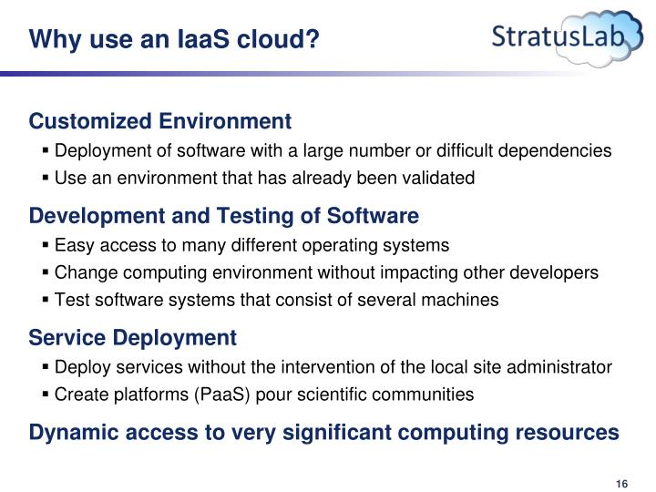 Why use an IaaS cloud?