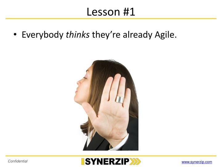 Lesson #1