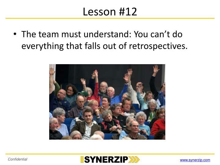 Lesson #12