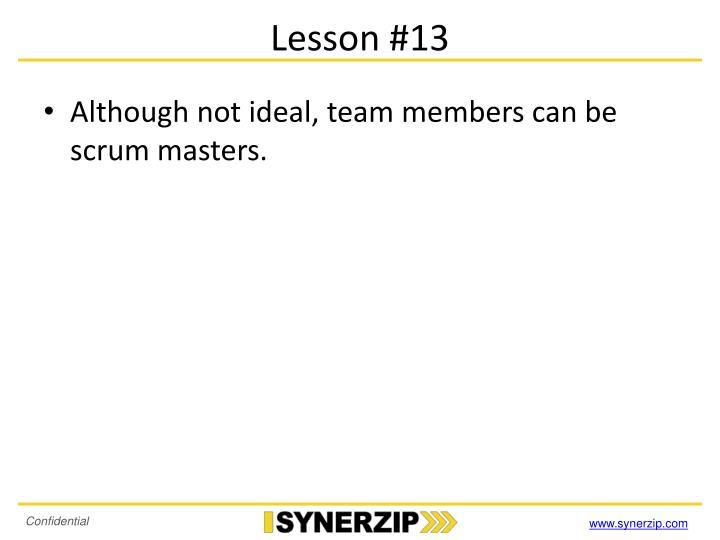 Lesson #13