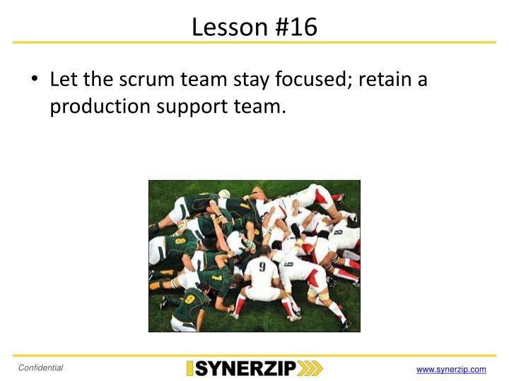 Lesson #16