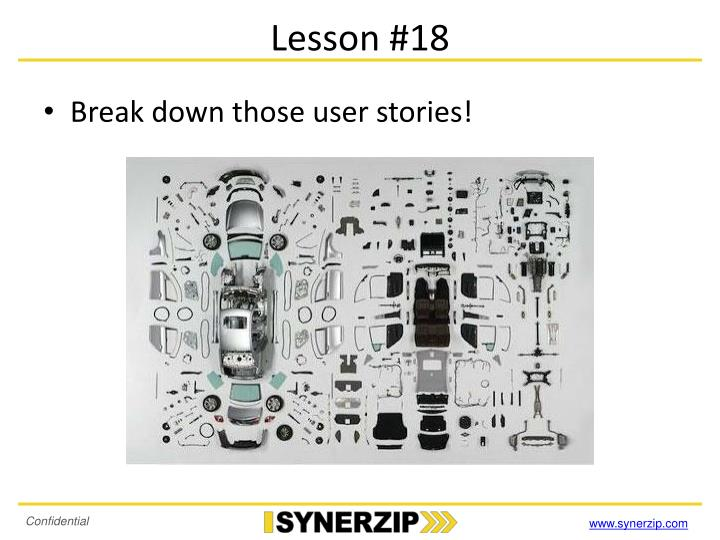 Lesson #18