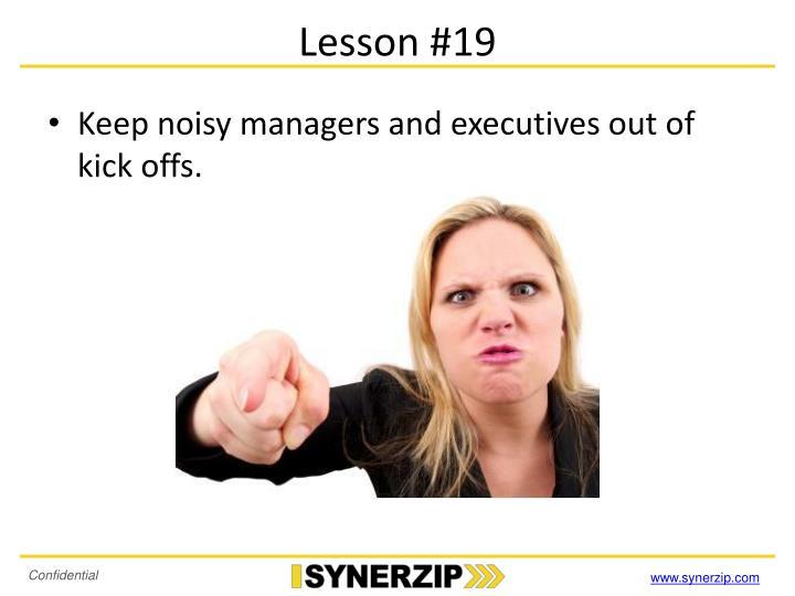 Lesson #19