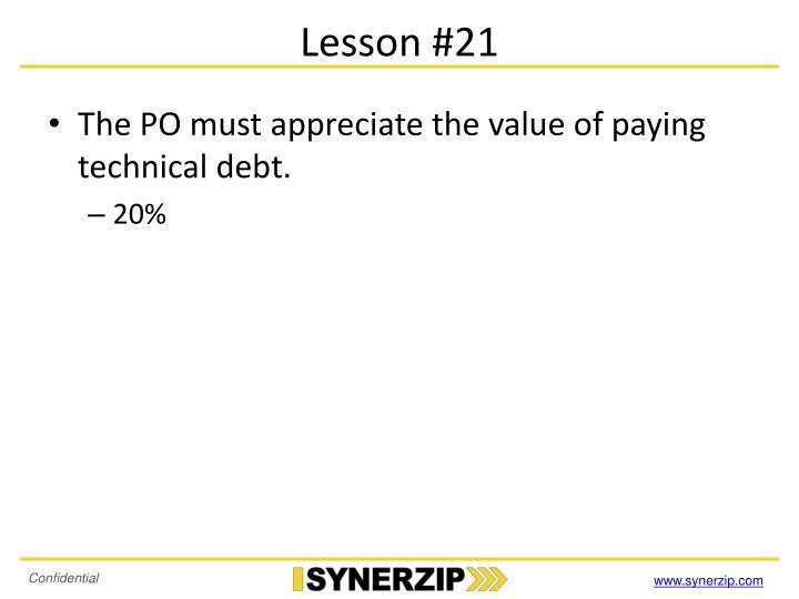 Lesson #21