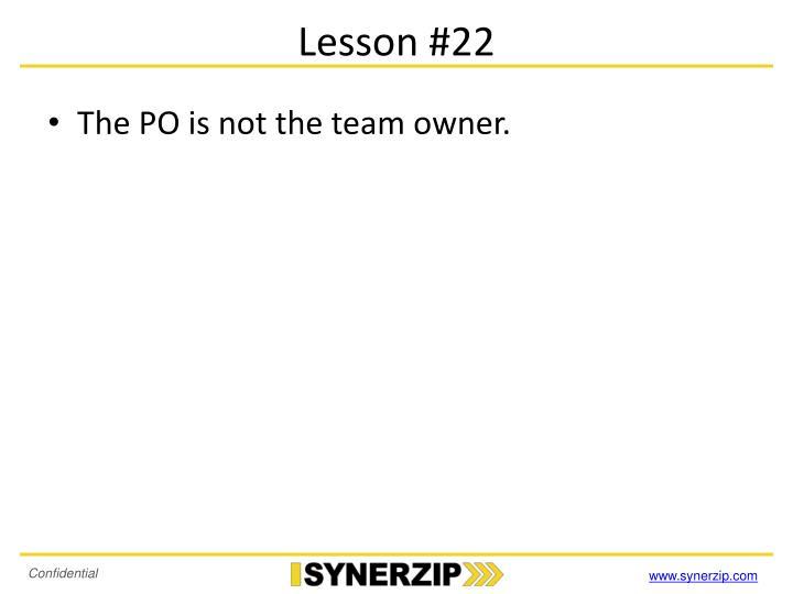 Lesson #22