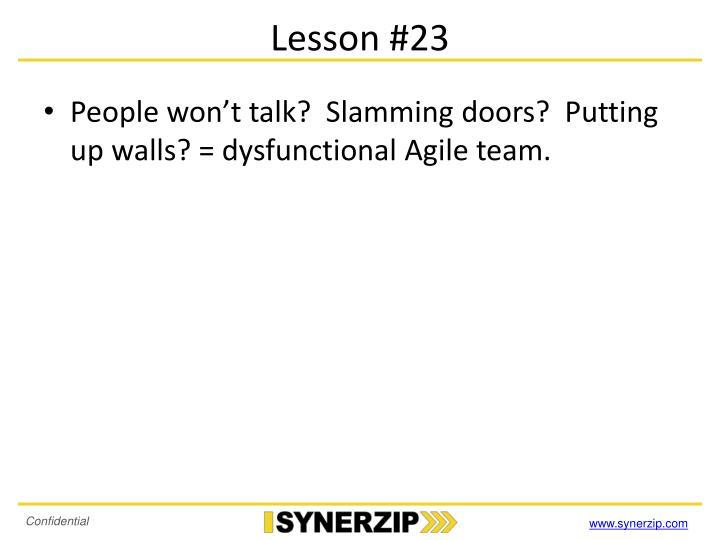 Lesson #23