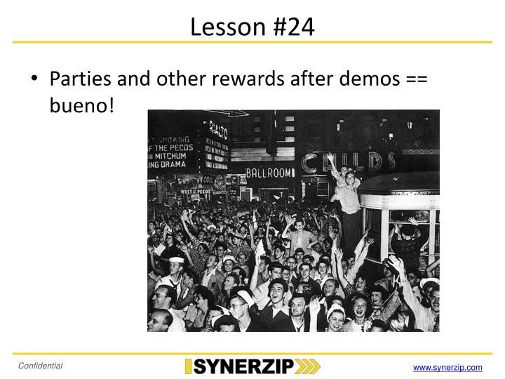 Lesson #24