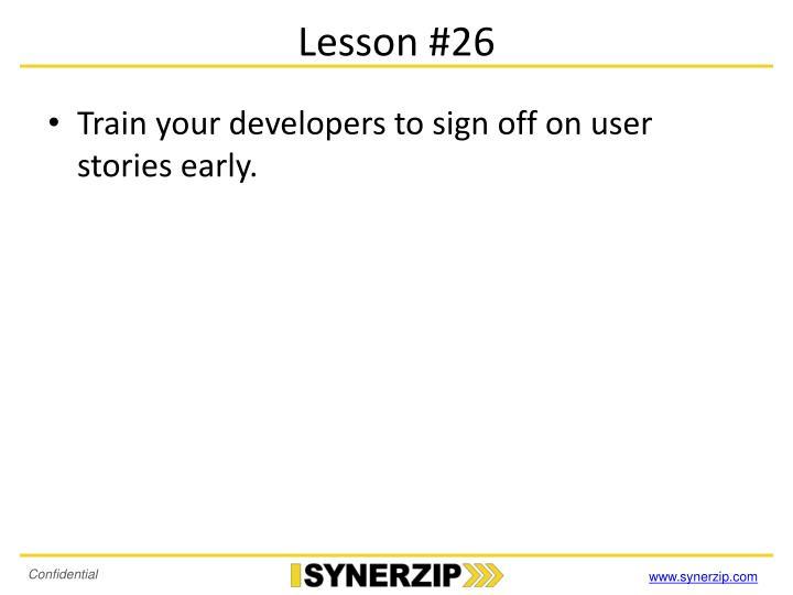 Lesson #26