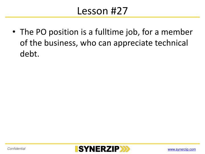 Lesson #27