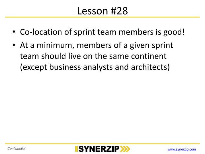 Lesson #28