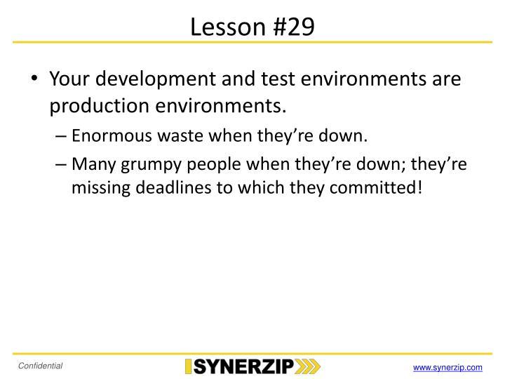 Lesson #29