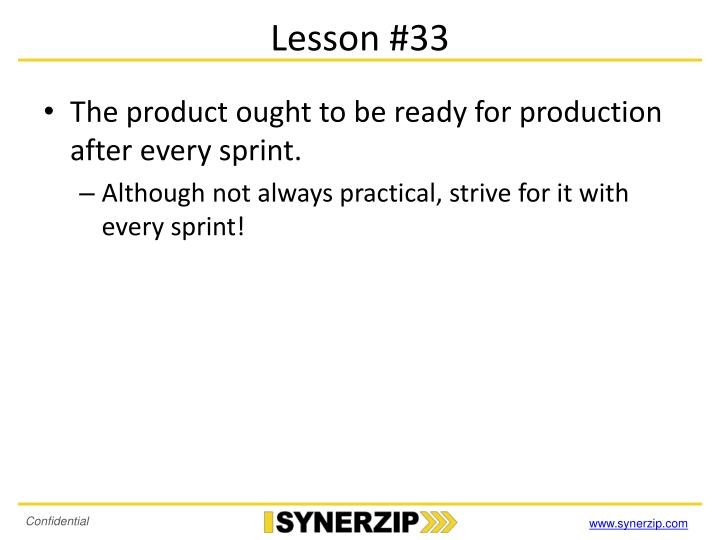 Lesson #33