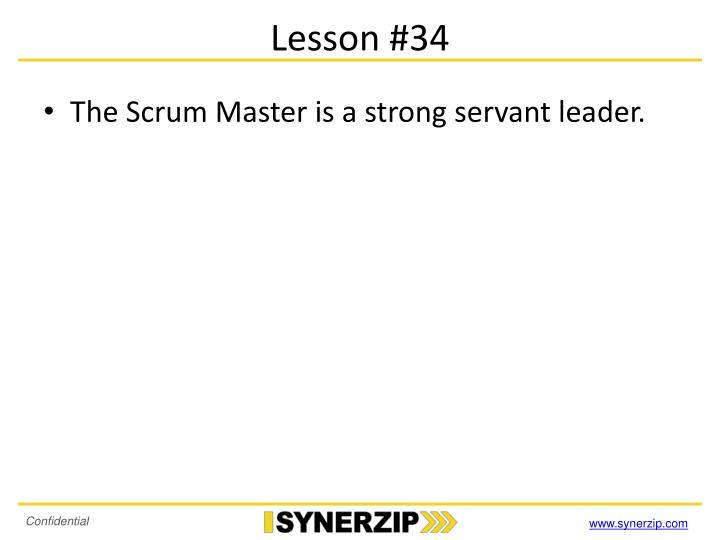 Lesson #34