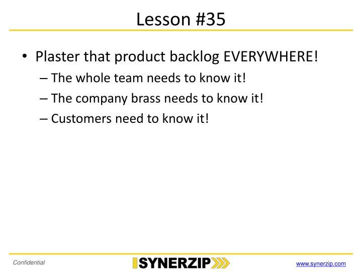 Lesson #35