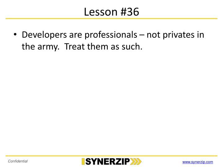 Lesson #36