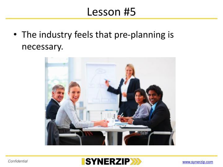 Lesson #5