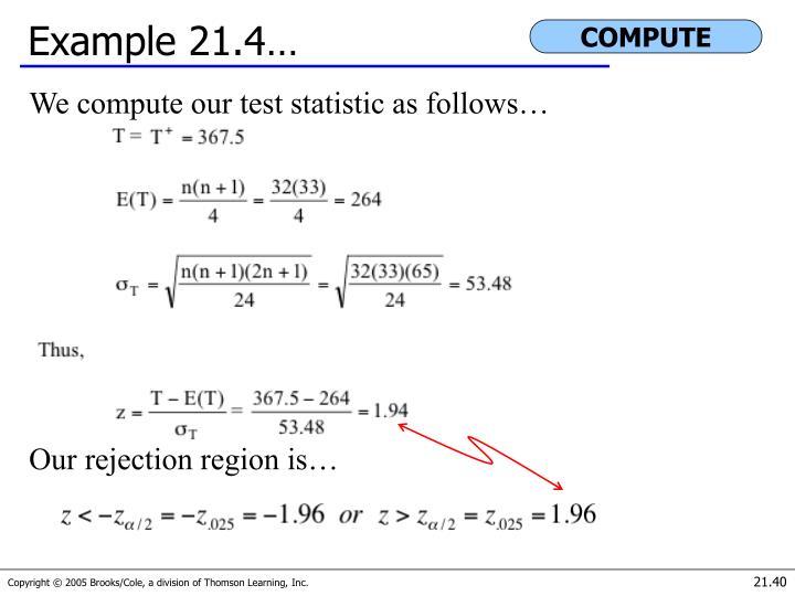 Example 21.4…