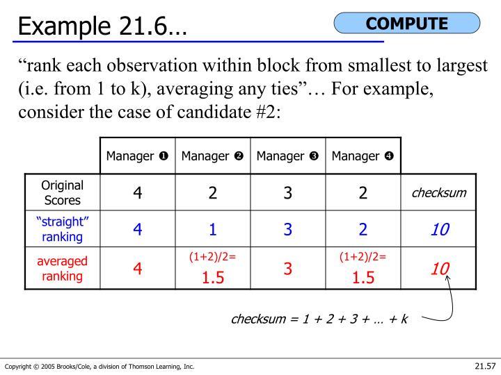 Example 21.6…