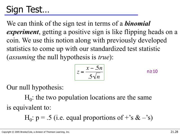 Sign Test…