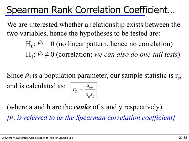 Spearman Rank Correlation Coefficient…