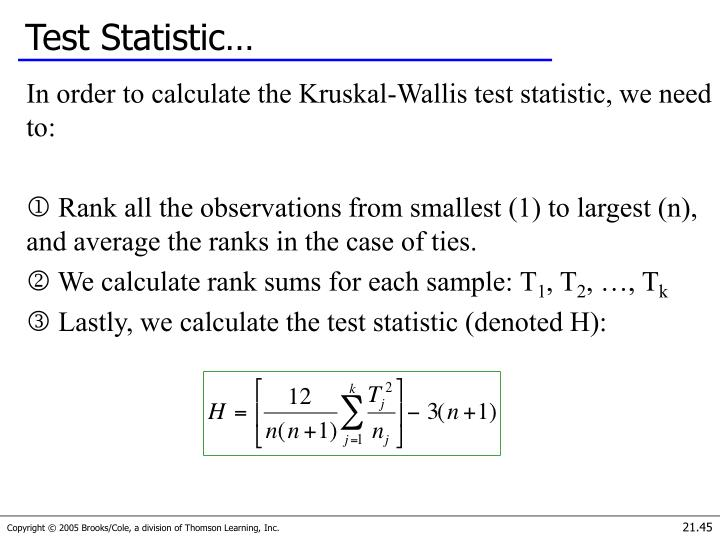 Test Statistic…