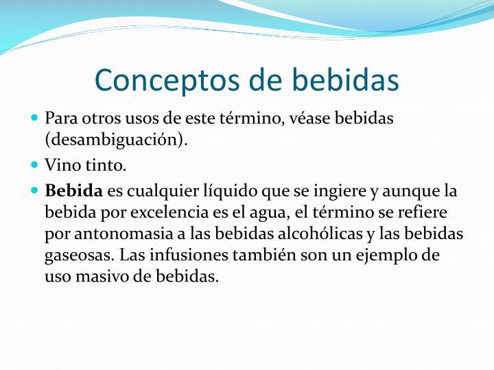 Conceptos de bebidas