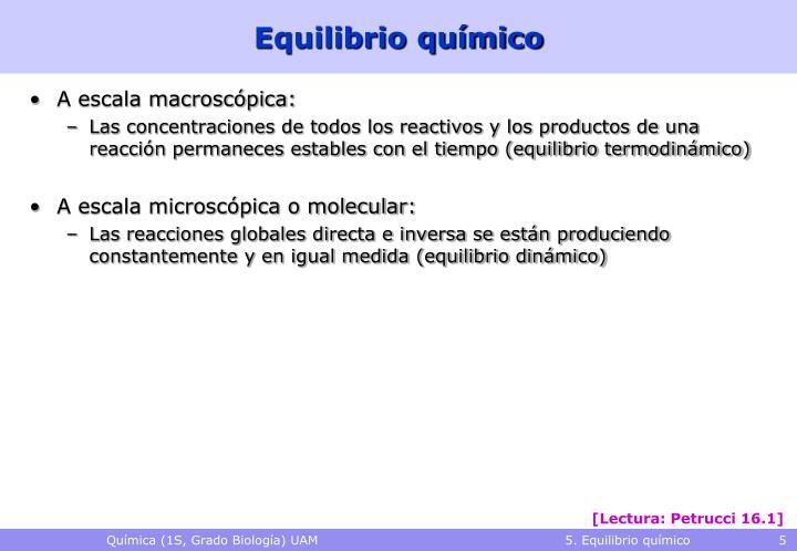 Equilibrio químico
