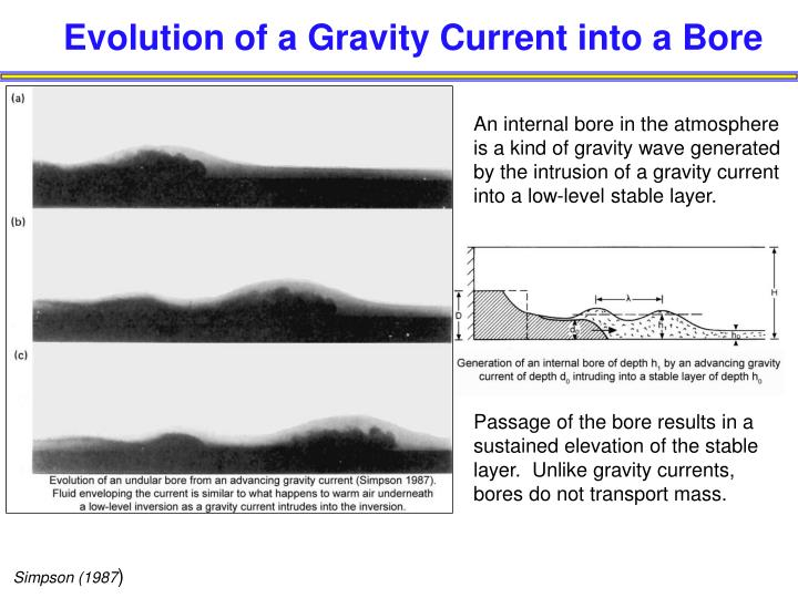 Evolution of a gravity current into a bore