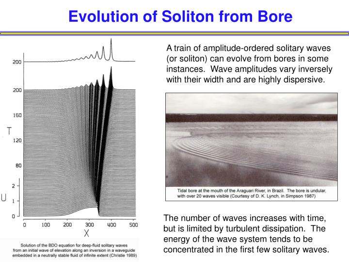 Evolution of Soliton from Bore