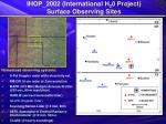ihop 2002 international h 2 0 project surface observing sites