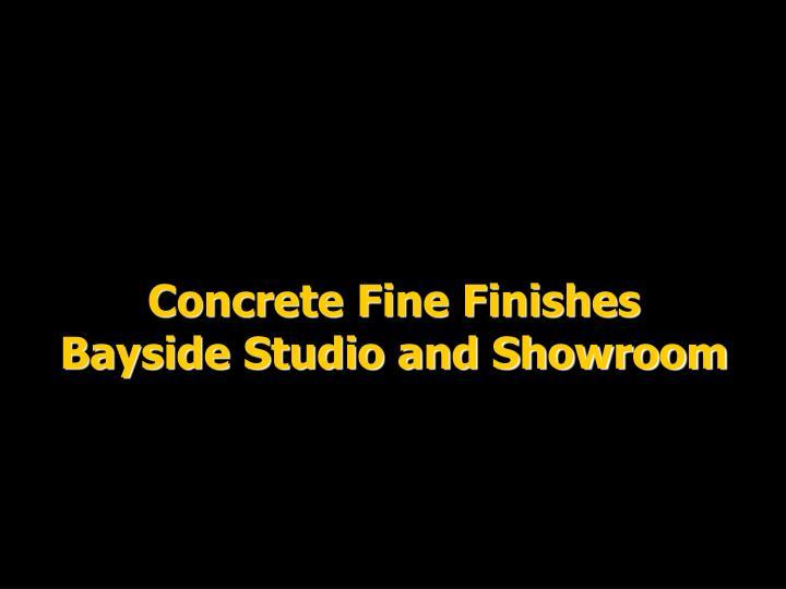 Concrete Fine Finishes