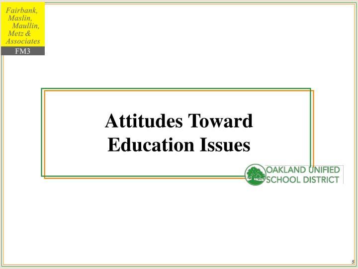 Attitudes Toward