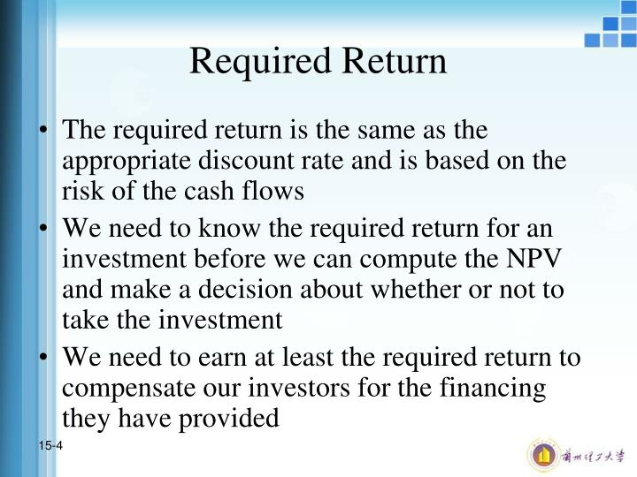 Required Return