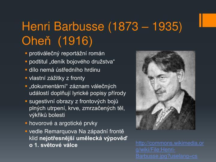 Henri Barbusse (1873 – 1935)