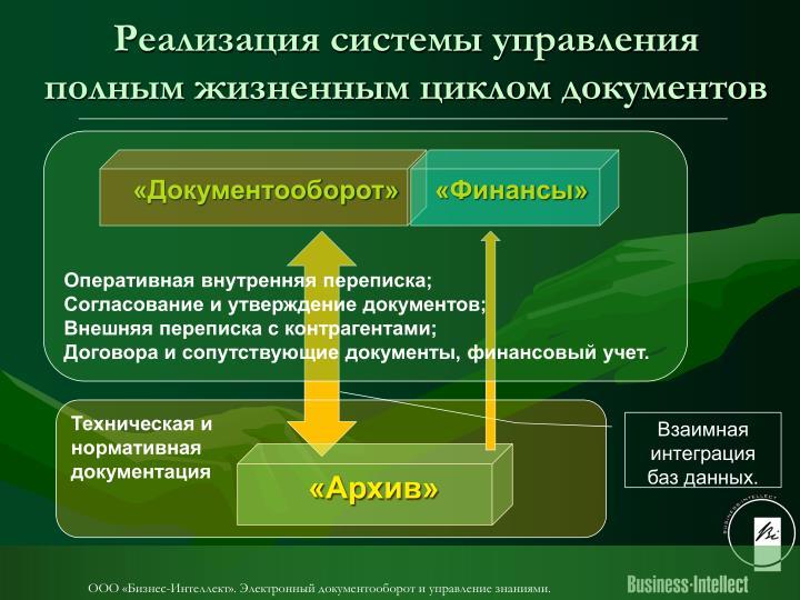 Реализация системы управления