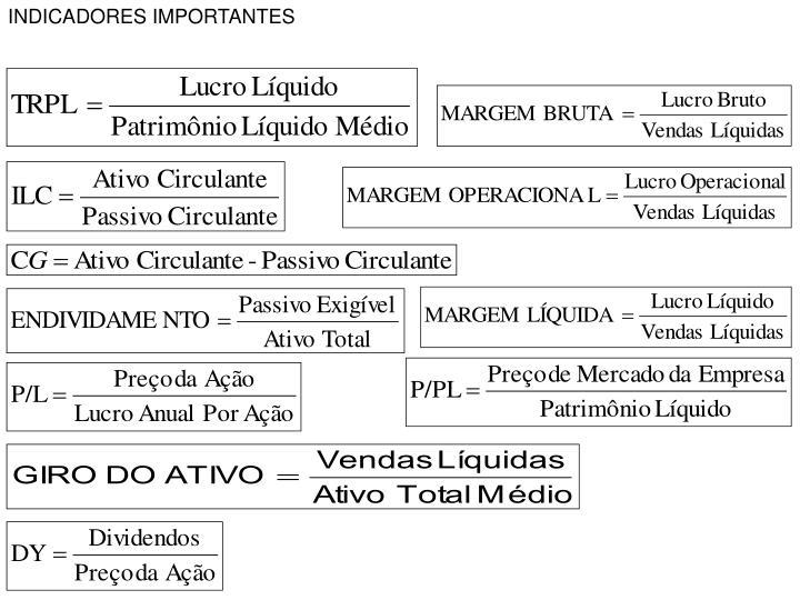 INDICADORES IMPORTANTES
