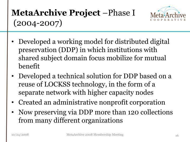 MetaArchive Project