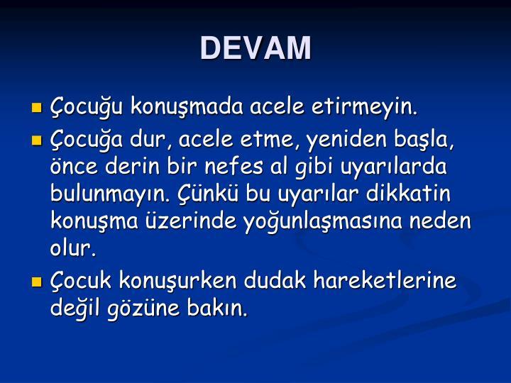 DEVAM
