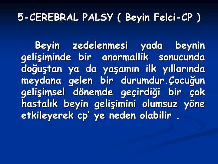 5-CEREBRAL PALSY ( Beyin Felci-CP )